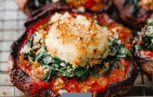 Make Ahead Stuffed Portobello Mushrooms