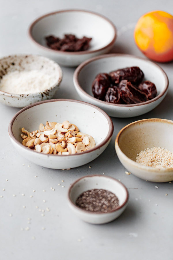 No Bake Energy Bite Ingredients