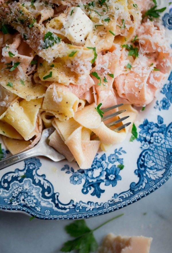 Pink Pappardelle Pasta