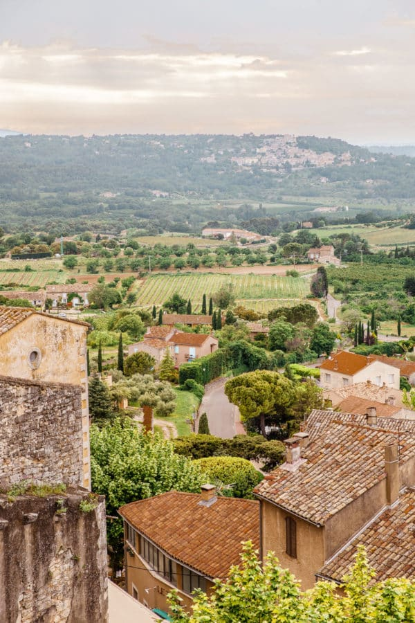 view from Menerbes France