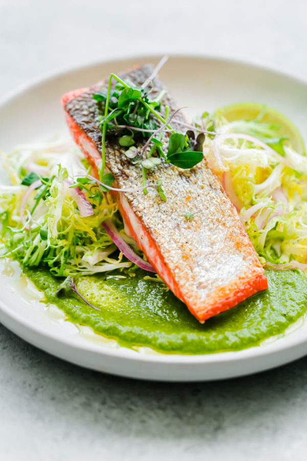 Seared Sockeye Salmon Dinner Recipe