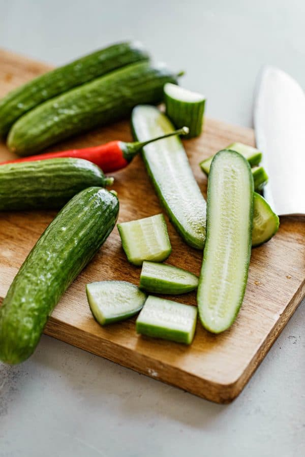 Chinese Cucumber Salad Ingredients