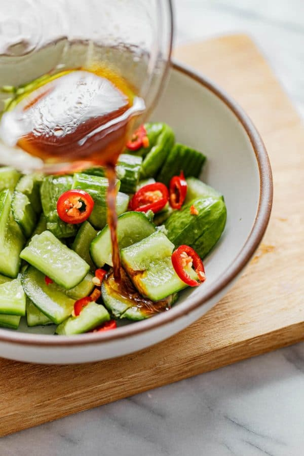 Smashed Cucumber Salad Vinegar