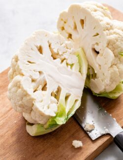 Sliced Head of Cauliflower