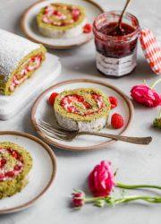 Raspberry Matcha Cake