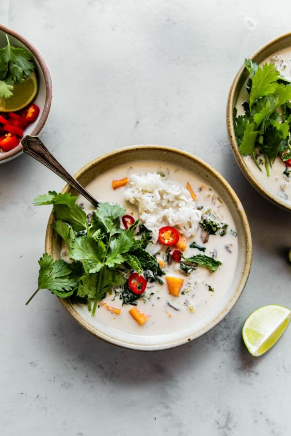 Vegetarian Thai Coconut Soup