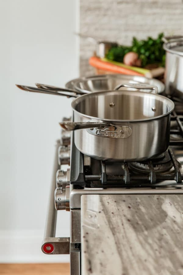D5 Brushed Stainless Steel Cookware