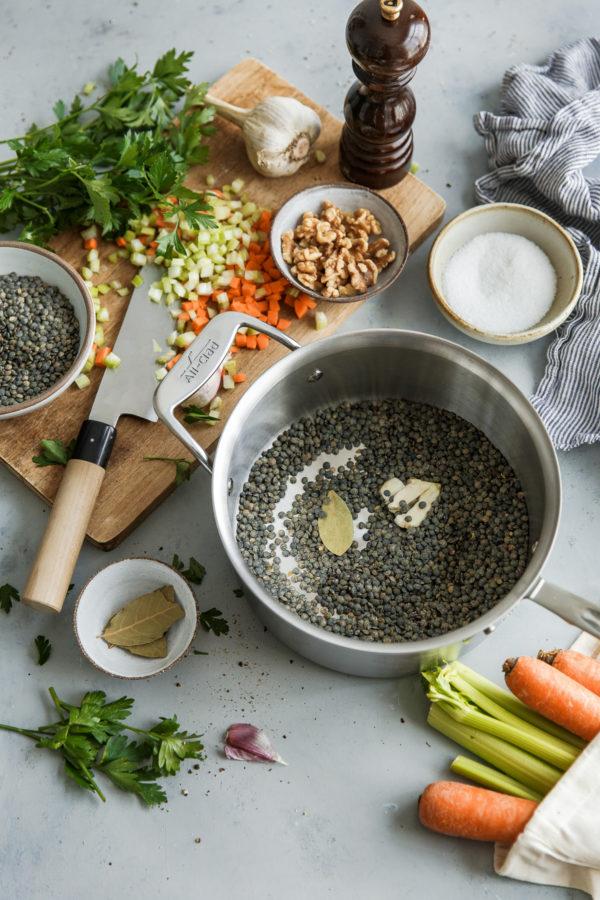 French Lentil Salad Ingredients