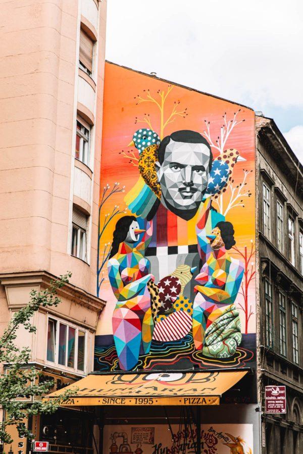 Budapest Wall Mural