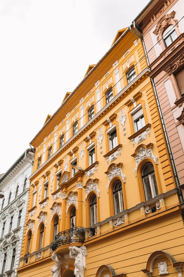 Budapest Colored Buildings