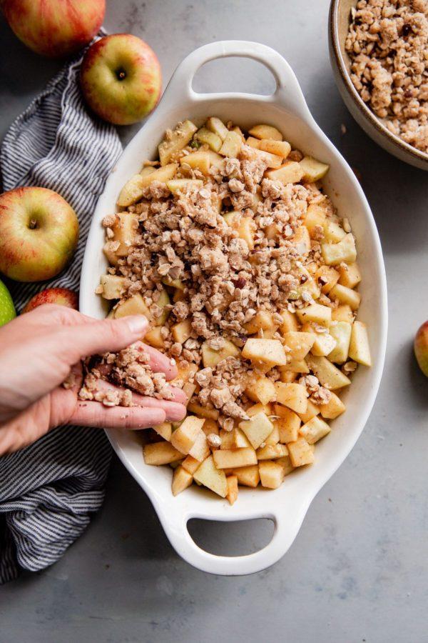 Apple Hazelnut Crisp