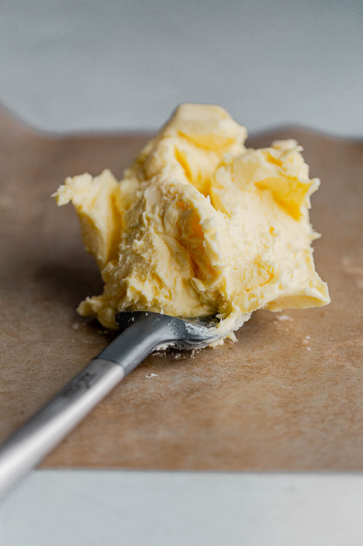 How to Make Cultured Butter - learn how to make cultured butter at home with this easy cultured butter recipe complete with step-by-step photos! A tangy alternative to regular butter. #butter #cultured #recipe #howto #recipe #abeautifulplate