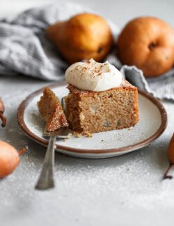 Spiced Almond Pear Cake