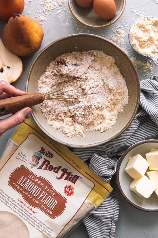 Bobs Red Mill Super Fine Almond Flour and Pear Cake Ingredients