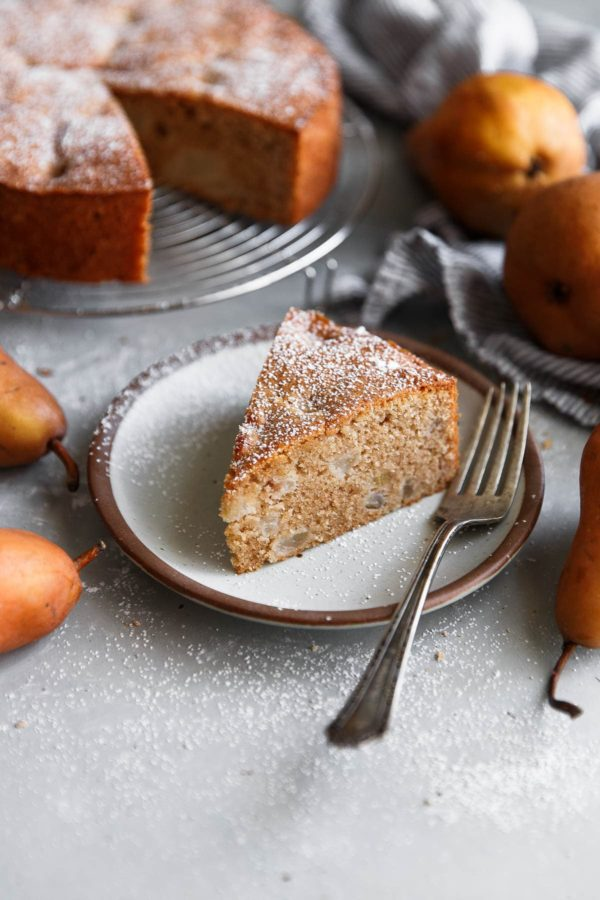 Spiced Almond Pear Cake