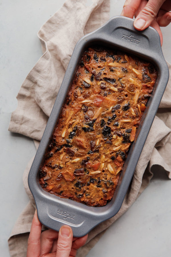 Baked Fruit Cake in Loaf Pan