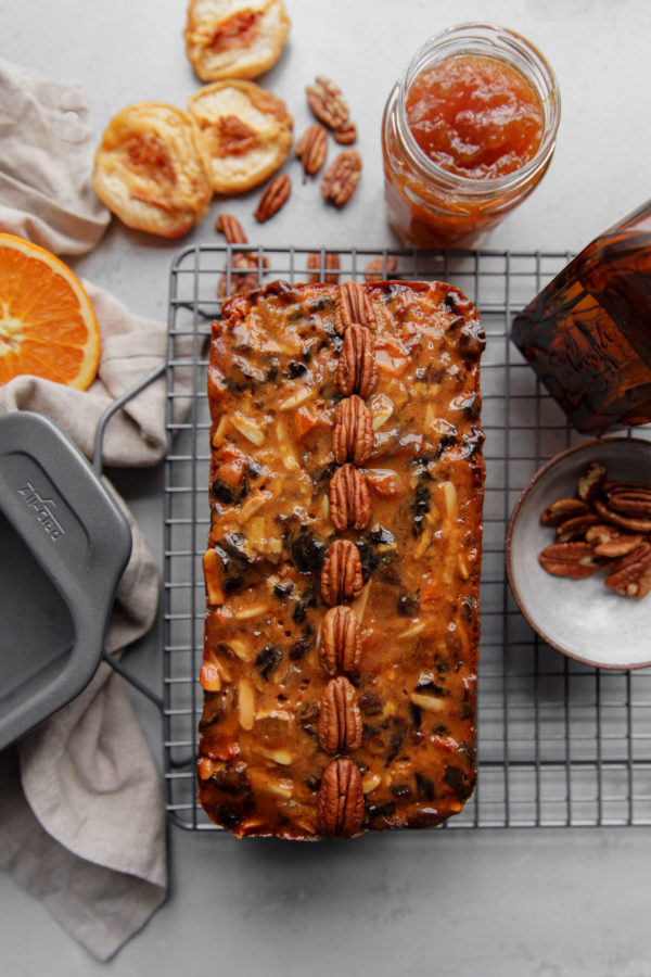 Fruit Cake on Baking Rack