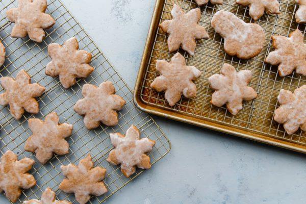 Glazed Lebkuchen Cookies on Baking Rack