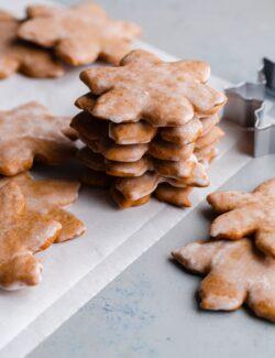 Stacked Lebkuchen Cookies