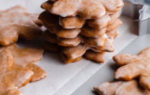 Stacked Lebkuchen Cookies