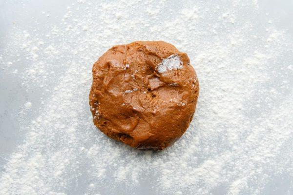 Lebkuchen Dough on Floured Surface