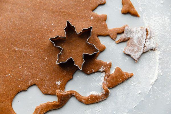Cut out Lebkuchen Cookie Dough