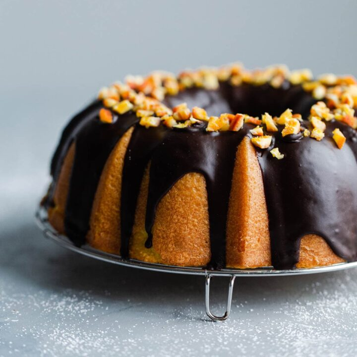 Orange Bundt Cake with Chocolate Glaze