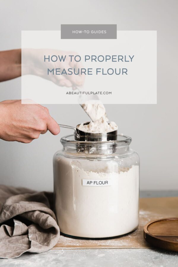 How to Measure Flour Guide