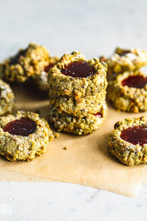 Pistachio Cookies with Jam Filling