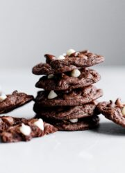 Stacked Triple Chocolate Cookies
