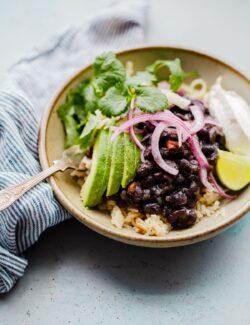Black Bean and Rice Bowl