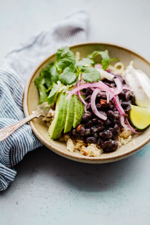 Black Bean and Rice Bowl