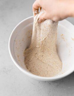 Stretch and Fold Sourdough Dough