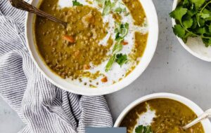 Curried Lentil Soup in Bowl