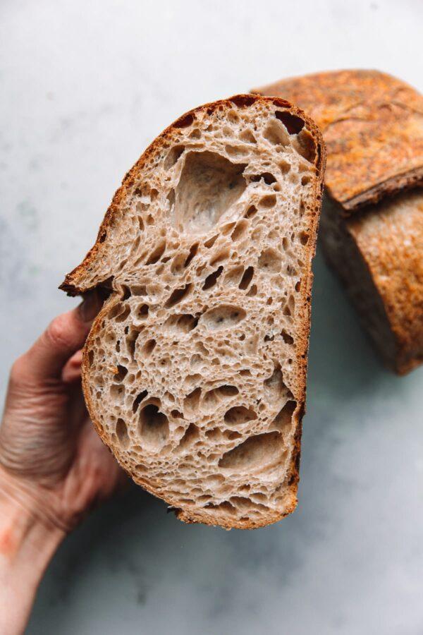 Open Crumb Artisan Sourdough Bread