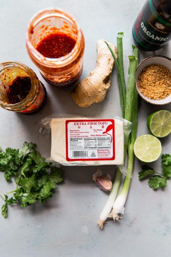 Spicy Tofu Ingredients