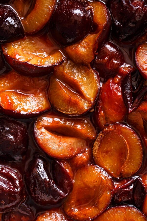 Close Up Picture of Roasted Plum Compote
