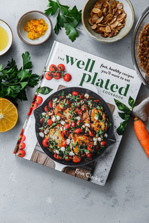 Well Plated Cookbook with Recipe Ingredients