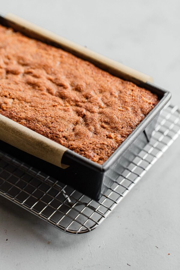 Baked Apple Quick Bread in Loaf Pan