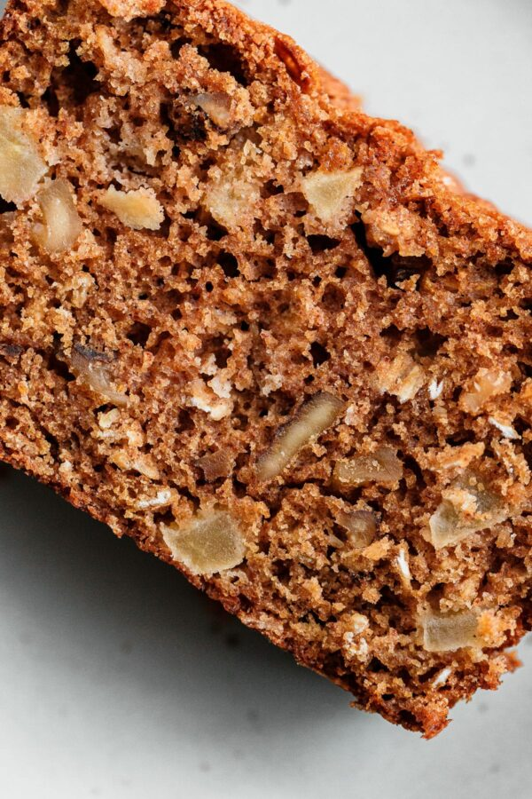Apple Quick Bread Crumb Texture