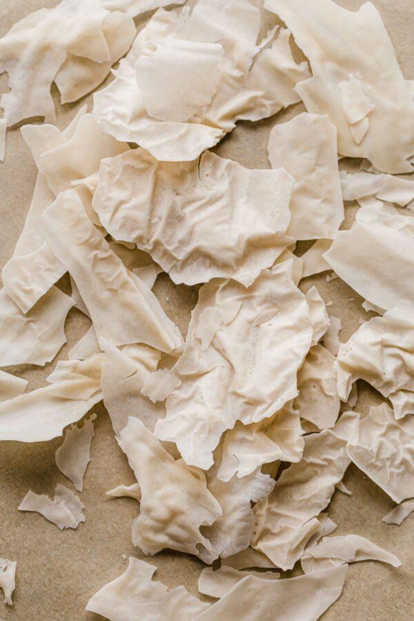 dried sourdough starter shards