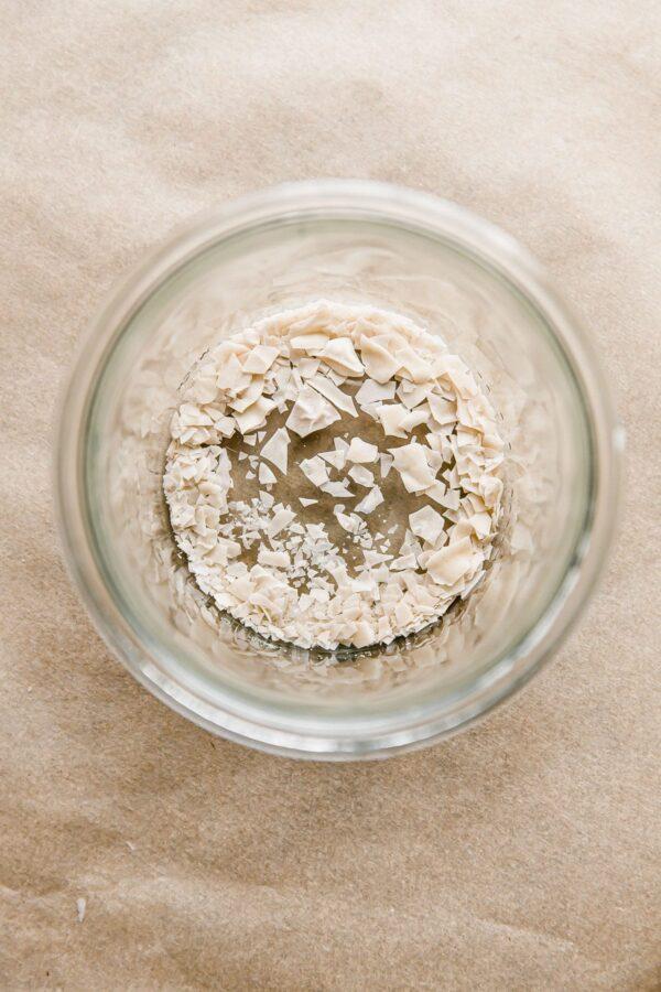 Rehydrated Sourdough Starter in Glass Jar