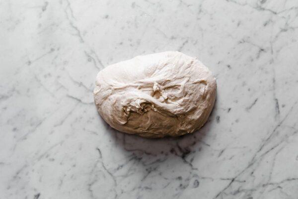 Sourdough Dough on Marble Board
