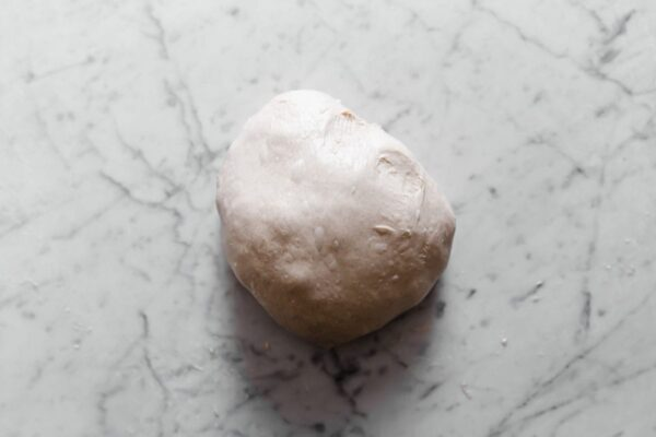 Rounded Sourdough Dough